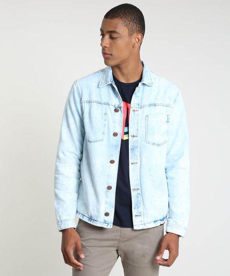 Jaqueta-Jeans-Masculina-Trucker-com-Bolsos-Azul-Claro-9896453-Azul_Claro_1