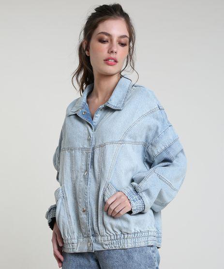 Jaqueta-Jeans-Feminina-Mindset-Oversized-com-Bolsos-e-Manga-Removivel-Azul-Claro-9946129-Azul_Claro_1
