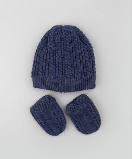 Kit-de-Gorro---Luva-em-Trico-Azul- 3f0ba4865de