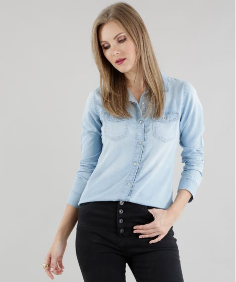 a4417abd43d5ee Camisa-Jeans-Azul-Claro-8584647-Azul_Claro_1 ...