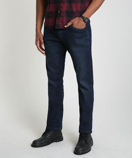 Calca-Jeans-Masculina-Reta-com-Bolsos-Azul-Escuro-9913666-Azul_Escuro_1