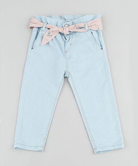 Calca-Jeans-Infantil-Clochard-em-Moletom-com-Faixa-para-Amarrar-Azul-Claro-9894179-Azul_Claro_1