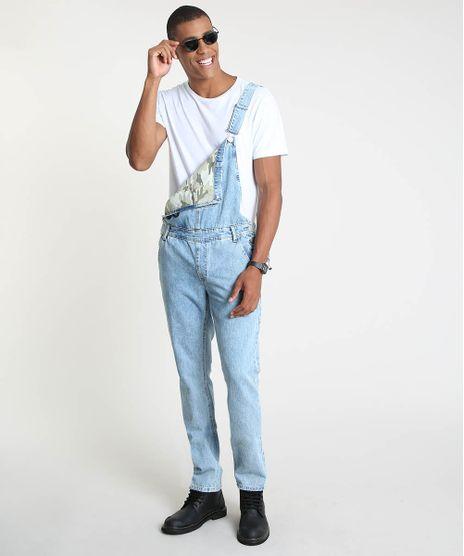 Macacao-Jeans-Masculino-Slim-com-Bolsos-Azul-Claro-9907080-Azul_Claro_1