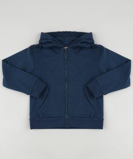 Blusao-Infantil-Basico-em-Moletom-Felpado-com-Capuz-e-Bolsos-Azul-Marinho-9798159-Azul_Marinho_1