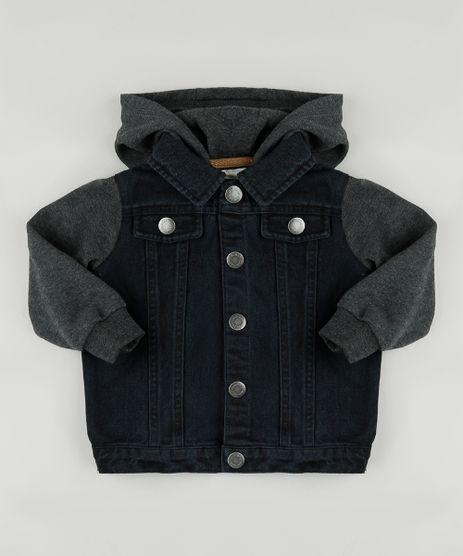 Jaqueta-Jeans-Infantil-com-Moletom-Felpado-e-Capuz-Cinza-Mescla-Escuro-9810338-Cinza_Mescla_Escuro_1