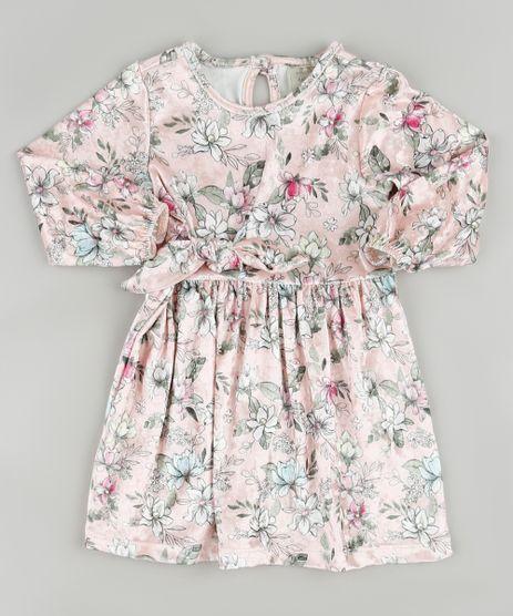 Vestido-Infantil-Estampado-Floral-em-Veludo-com-Laco-Manga-Longa-Rose-9896816-Rose_1