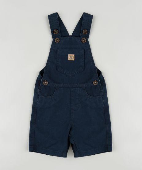 Jardineira-de-Sarja-Infantil-com-Bolsos-Azul-Marinho-9883889-Azul_Marinho_1