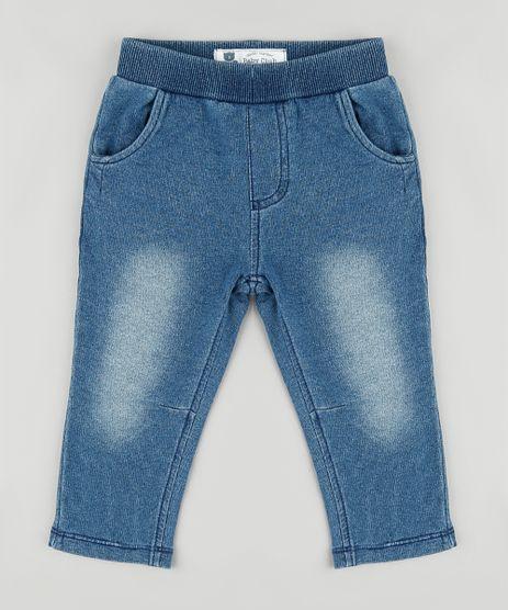 Calca-Jeans-Infantil-em-Moletom-Azul-Medio-9775513-Azul_Medio_1