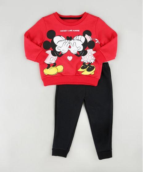 Conjunto-Infantil-Mickey-e-Minnie-de-Blusao-Vermelho---Calca-em-Moletom-Felpado-Preta-9890126-Preto_1