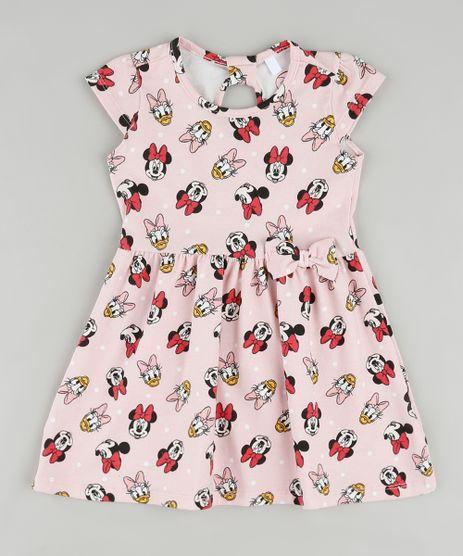 Vestido-Infantil-Minnie-e-Margarida-Estampado-com-Laco-Manga-Curta-Rosa-Claro-9909913-Rosa_Claro_1
