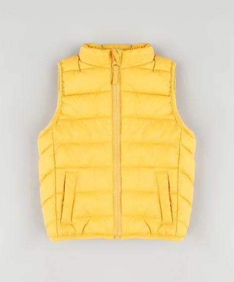 Colete-Infantil-Puffer-com-Bolsos-Amarelo-9344028-Amarelo_1