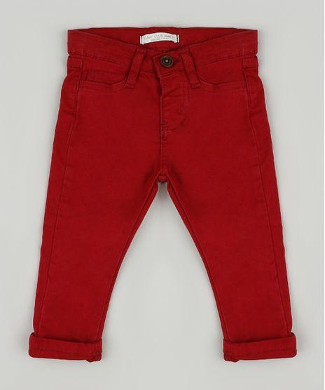 Calca-de-Sarja-Infantil-Skinny-com-Bolsos-Vermelha-8379225-Vermelho_1