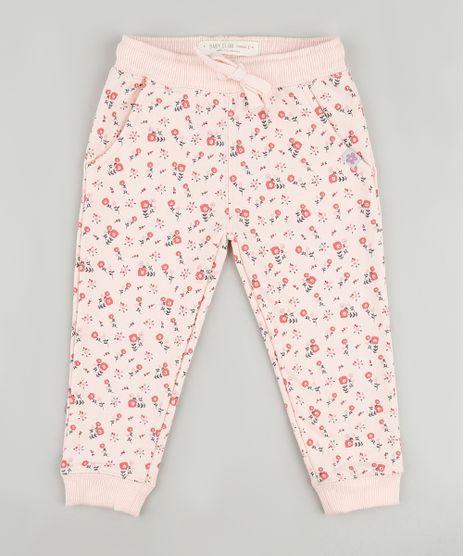 Calca-Infantil-Estampada-Floral-em-Moletom-com-Bolsos-Rosa-Claro-9794861-Rosa_Claro_1