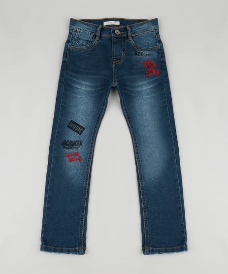 Calca-Jeans-Infantil-Reta-com-Bordado-Azul-Escuro-9886342-Azul_Escuro_1