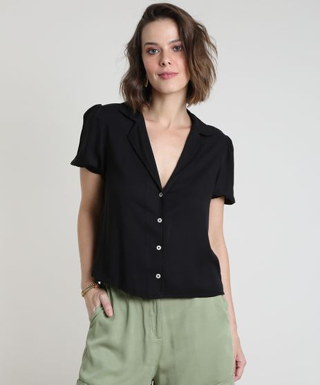 Camisa-Feminina-Ampla-Manga-Bufante-Preta-9896322-Preto_1