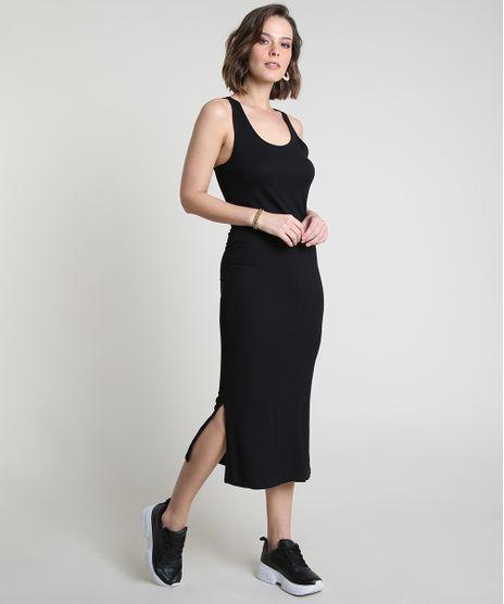 Vestido-Feminino-Midi-Canelado-com-Fendas-Decote-Nadador-Preto-9921519-Preto_1