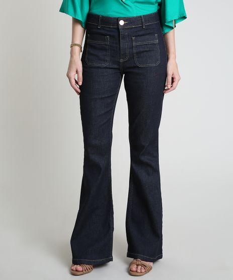 Calca-Jeans-Feminina-Flare-Cintura-Alta-Azul-Escuro-9887392-Azul_Escuro_1