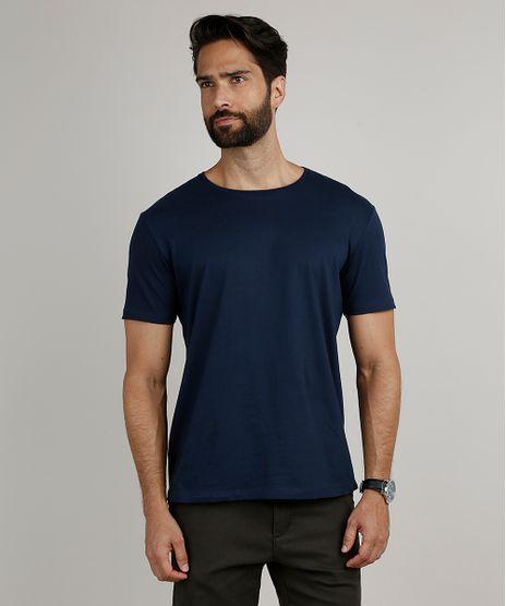 Camiseta-Masculina-Basica-Manga-Curta-Gola-Careca-Azul-Marinho-8472740-Azul_Marinho_1