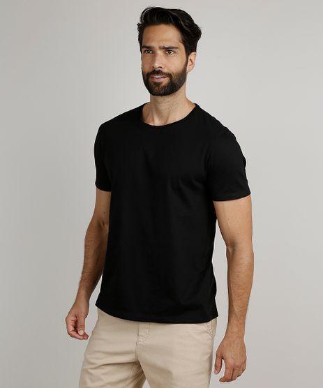 Camiseta-Masculina-Basica-Manga-Curta-Gola-Careca-Preta-8472740-Preto_1