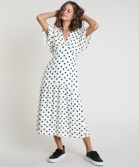 Vestido-Feminino-Midi-Estampado-de-Poa-Manga-Curta-Off-White-9918306-Off_White_1