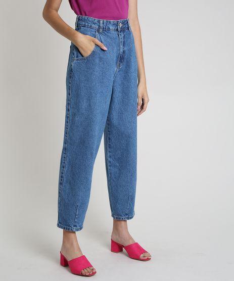 Calca-Jeans-Feminina-Baggy-Cintura-Alta-Azul-Medio-9889889-Azul_Medio_1