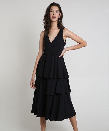 Vestido-Feminino-Midi-Canelado-em-Camadas-Sem-Manga-Preto-9937581-Preto_1