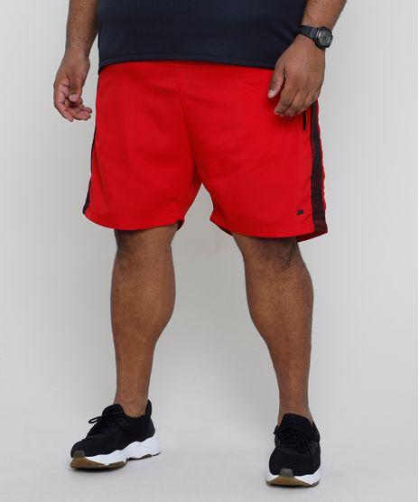Bermuda-Masculina-Esportiva-Ace-com-Faixa-Lateral-em-Tela-Vermelha-9905168-Vermelho_1