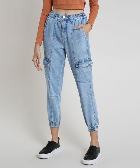 Calca-Jeans-Feminina-Jogger-Cargo-Cintura-Alta-Azul-Claro-9884329-Azul_Claro_1