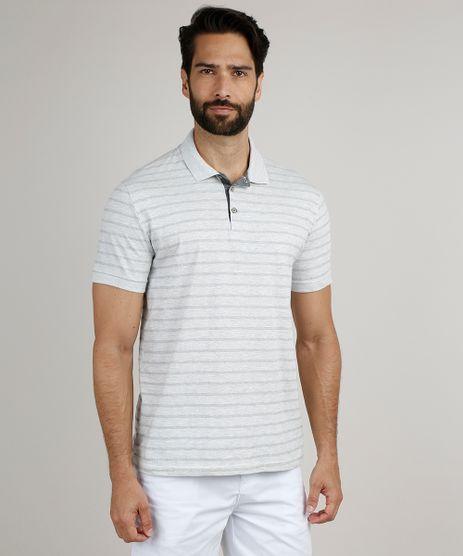 Polo-Masculina-Comfort-Listrada-Maquinetada-Manga-Curta-Cinza-Mescla-Claro-9872338-Cinza_Mescla_Claro_1