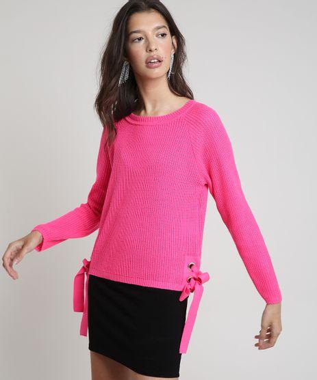 Sueter-Feminino-em-Trico-com-Ilhoses-Decote-Redondo-Pink-9901117-Pink_1