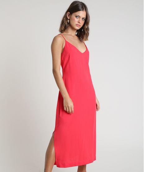 Vestido-Feminino-Midi-com-Fendas-Alca-Fina-Vermelho-9803833-Vermelho_1