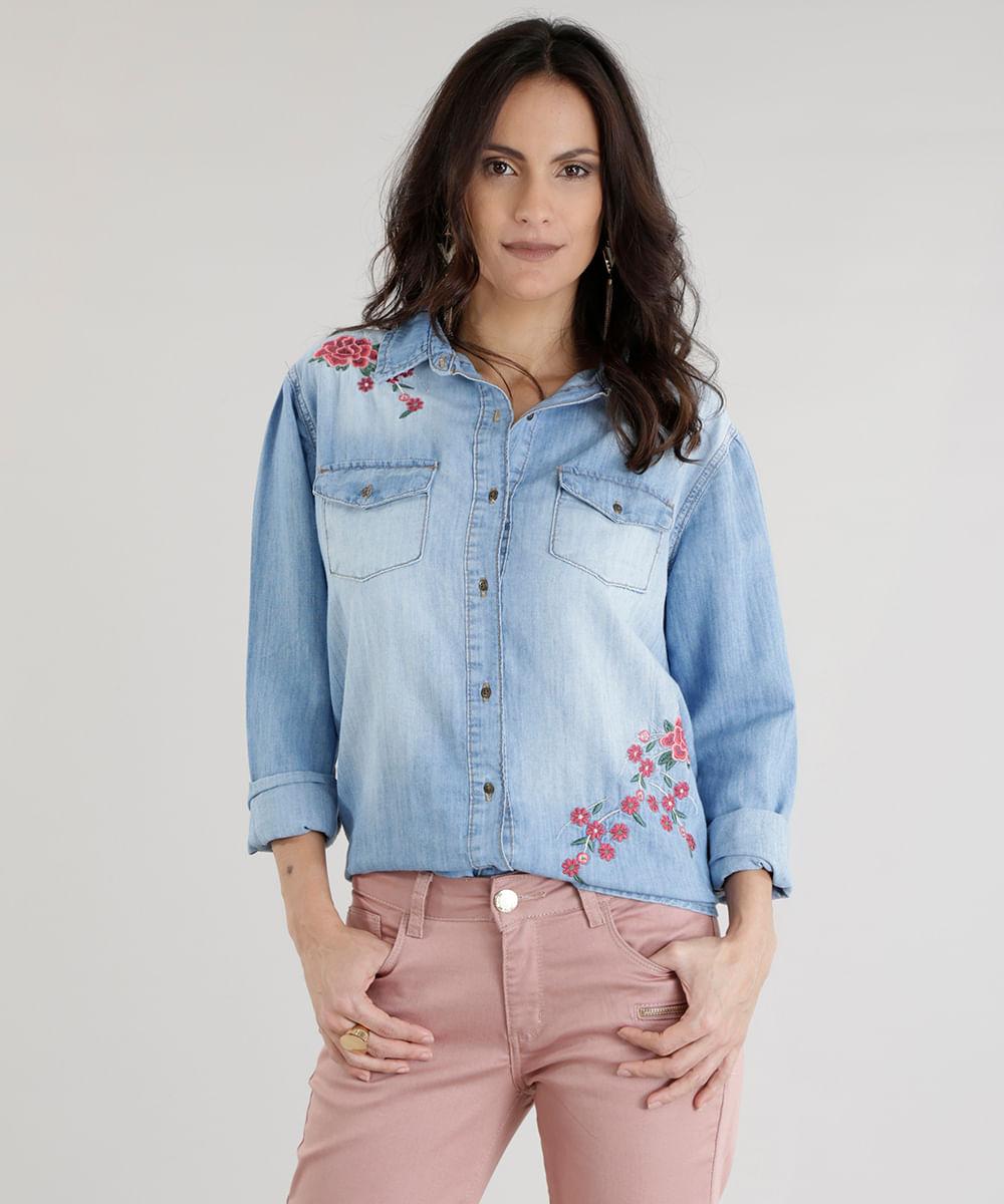 ab652583178778 ... Camisa-Jeans-com-Bordados-Azul-Claro-8614035-Azul_Claro_1