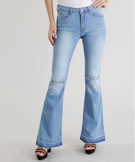 96d66972d Calca-Jeans-Flare-Azul-Claro-8604675-Azul_Claro_1 ...