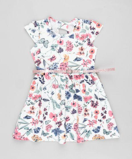 Vestido-Infantil-Estampado-Floral-com-Cinto-Sem-Manga-Off-White-9909945-Off_White_1