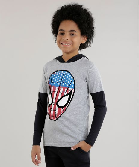 Camiseta-com-Capuz-Homem-Aranha-Cinza-Mescla-8614302-Cinza_Mescla_1