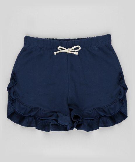 Short-Infantil-em-Moletom-com-Babado-Azul-Marinho-9888006-Azul_Marinho_1