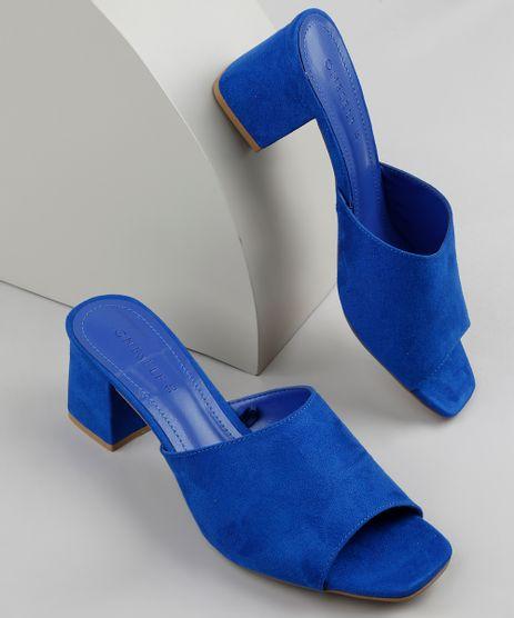 Tamanco-Feminino-Oneself-Salto-Quadrado-Medio-em-Suede-Azul-Escuro-9683922-Azul_Escuro_1