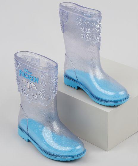 Bota-Galocha-Infantil-Frozen-Transparente-com-Glitter-Azul-Claro-9938914-Azul_Claro_1