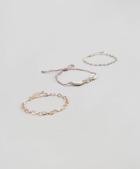 Kit-de-3-Pulseiras-Femininas-com-Pedra-Zirconia-e-Buzios-Dourado-9860295-Dourado_1