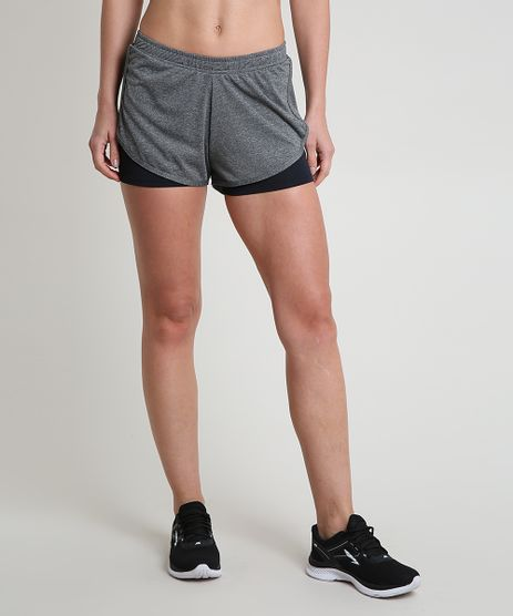Short-Feminino-Esportivo-Ace-Running-com-Sobreposicao-Cinza-Mescla-Escuro-9875370-Cinza_Mescla_Escuro_1