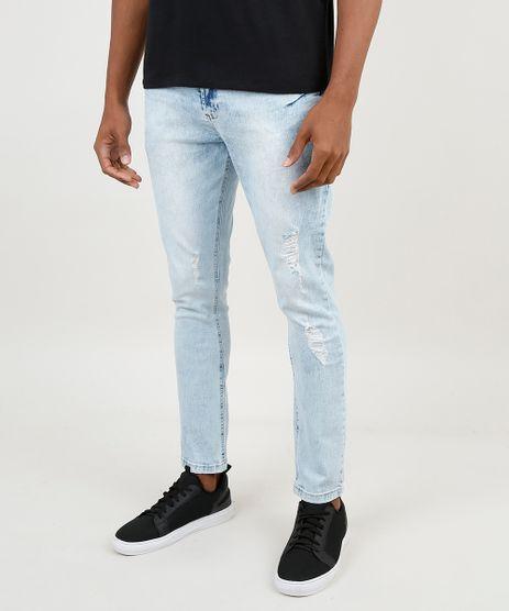 Calca-Jeans-Masculina-Carrot-com-Rasgos-Azul-Claro-9875421-Azul_Claro_1