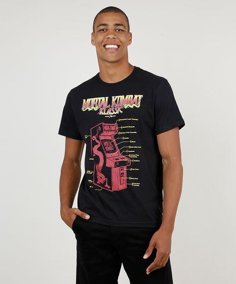 Camiseta-Masculina-Mortal-Kombat-Manga-Curta-Gola-Careca-Preta-9870732-Preto_1