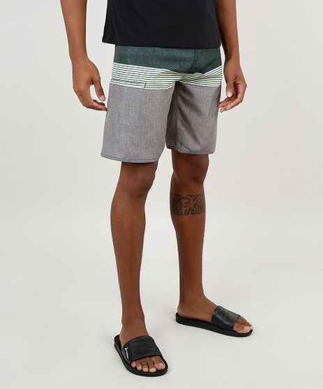 Bermuda-Surf-Masculina-com-Listras-e-Bolso-Verde-Escuro-9882331-Verde_Escuro_1