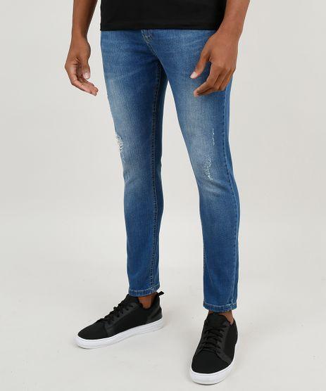 Calca-Jeans-Masculina-Carrot-com-Rasgos-Azul-Medio-9875422-Azul_Medio_1
