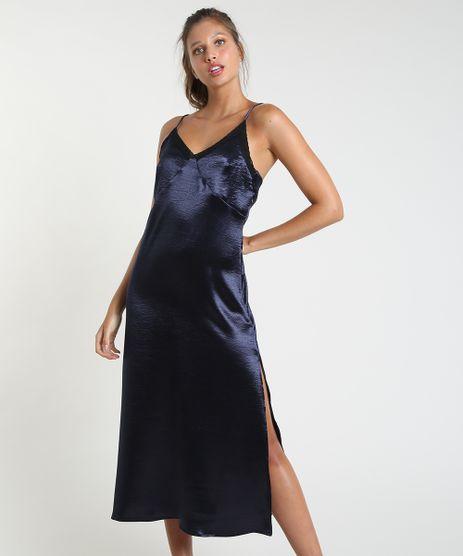 Vestido-Slip-Dress-Feminino-Mindset-Midi-Acetinado-com-Renda-e-Fenda-Alca-Fina-Azul-Escuro-9942366-Azul_Escuro_1