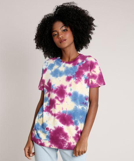 T-Shirt-Feminina-Mindset-Estampada-Tie-Dye-Manga-Curta-Decote-Redondo-Roxa-9942142-Roxo_1