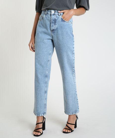 Calca-Jeans-Feminina-Mindset-Reta-Cintura-Alta-com-Bolsos-Azul-Claro-9946477-Azul_Claro_1