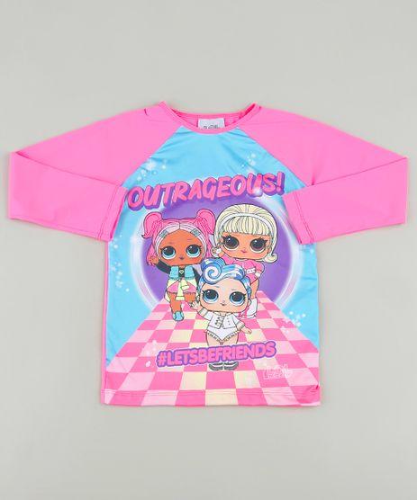 Blusa-de-Praia-Infantil-LOL-Surprise-Raglan-Manga-Longa-com-Protecao-UV50--Pink-9889599-Pink_1