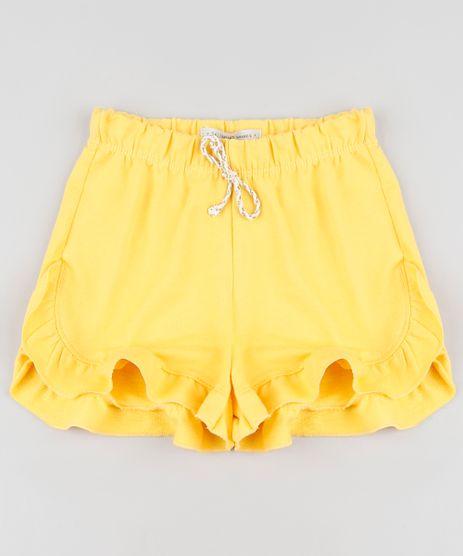 Short-Infantil-em-Moletom-com-Babado-Amarelo-9888016-Amarelo_1