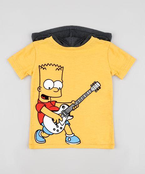 Camiseta-Infantil-Bart-Simpsons-com-Capuz-Manga-Curta-Mostarda-9885110-Mostarda_1